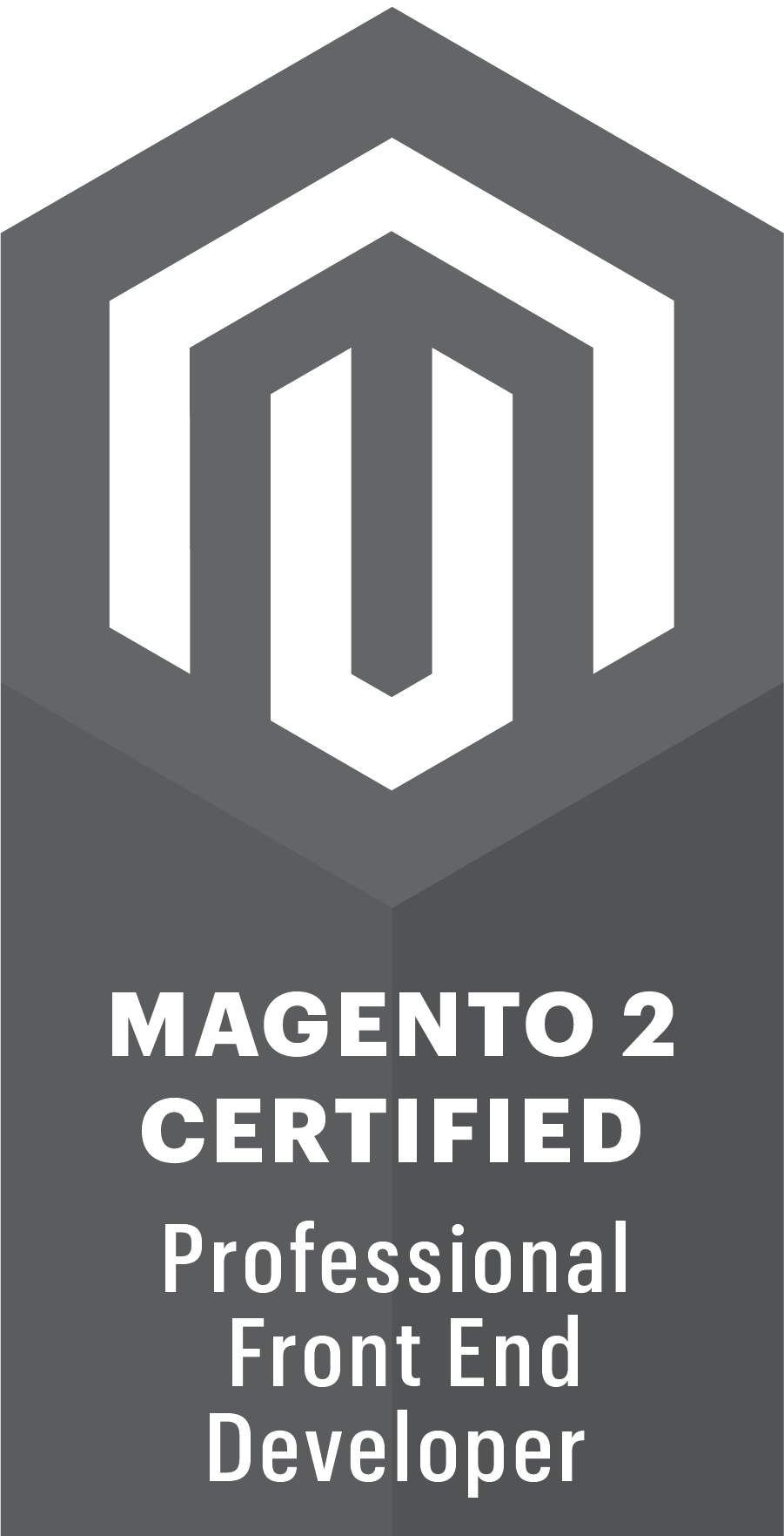 MAGENTO 2 CERTIFIED PROFESSIONAL FRONT END DEVELOPER badge
